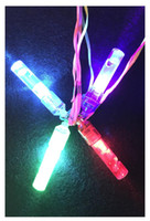 Wholesale plastic party whistles resale online - Factory Colorful LED flash light emitting whistle whistle whistle luminous bar party props cheer