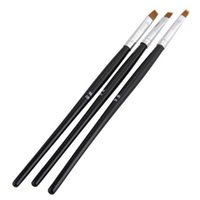 Wholesale Best Nail Art Brushes - Wholesale- Best Sale 3pcs Black Nail Art Design Pen Brush Manicure Painting Drawing