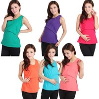 Wholesale Cheap Maternity Clothes Summer - Modal Nursing Tank tops cheap breastfeeding vest clothes affordable maternity wear clothing for pregnant women pregnancy dresses