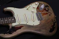 Wholesale Electric Guitar Sunburst St - Classic Custom Shop 1961 Rory Gallagher Tribute ST Strat ocaster Relic 3 Tone Sunburst Electric Guitar Top Selling
