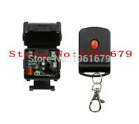 Wholesale Mini Remote Receiver Transmitter - Wholesale- AC 220 V 1 CH RF mini Wireless Remote Control 1 pcs Receiver & 1 pcs Transmitter Red-black cool remote control