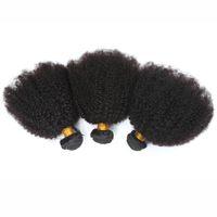 Wholesale brazilian hair extensions online - 8A Brazilian Virgin Human Har B C Human Hair Extension A Brazilian Kinky Curl Virgin Hair Afro Kinky Curly Human Hair Weave