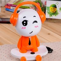 Wholesale Dj Cute - Wholesale- Cute creative skateboard boy shape colorful bedside lamp childrens night lamps with cord DJ boy kids table lamp for decor