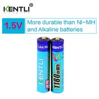 Wholesale Mouse Wireless Low - KENTLI 2 pcs AAA 1.5V Ultra low self-discharge lithium li-ion rechargeable batteries for Wireless mouse, toy, flashlight