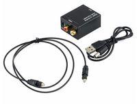 hdmi коаксиальный адаптер оптовых-Новый цифровой аналоговый аудио конвертер адаптер оптический коаксиальный RCA Toslink сигнал аналоговый аудио конвертер RCA