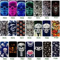 Wholesale Wholesale Fashion Cotton Face Mask - Newest Magic scarf collar absorbent mask outdoor sports headbands seamless face skull scarf male Bandanas C019