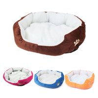 Cute Soft Dog Cat Pet Bed Mini House para cachorros coloridos para doces Camas Soft Warm Pet House Kennel para Puppy Cat Pet Dog Supplies