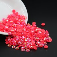 Wholesale Half Cabochon - Top sale cabochon half round resin beads Jelly Peach AB Resin Flatback Rhinestone All Size 3mm,4mm,5mm,6mm