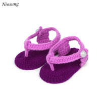 Wholesale Girls Shoe Clips - Wholesale- New Crib Crochet Casual Baby Girls Handmade Knit Sock Clip Toe Infant Shoes Soft Sole Sneaker Toddler Shoes wholesale
