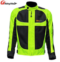 Wholesale Reflective Motorcycle Jackets - Men motorcycle racing jackets male motorcycle racing protective clothing drop resistance summer breathable Reflective clothes