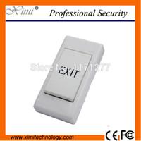 Wholesale exit push button access control - Wholesale- E19 Mini push exit button door for door lock system access control exit button exit switch