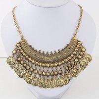 Wholesale Choker Findings - Wholesale- Find Me Fashion bijoux chain collar choker necklace Bohemian vintage long tassel sliver ethnic maxi necklace women Jewelry