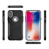 Wholesale Cell Phone Metal Armor - Metal Button Case For Iphone X 6 6S 7 8 Plus Non Slip Back Cover Soft TPU Armor Cell Phone Case For Apple