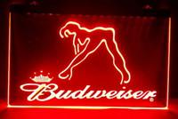 Wholesale Blue Dancer - b02 Budweiser Exotic Dancer Stripper bar pub club 3d signs led neon light sign home decor crafts