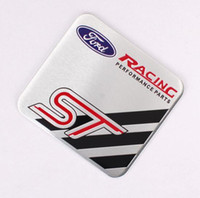 Wholesale St Car Badge - High Quality Aluminum alloy Sticker Car Sport Sticker Label Emblem Badge car styling for ST Wolf [ 60x55mm, 35x34mm]