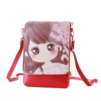 Wholesale Female Child Stars - Wholesale- Ladies Girl Bag New Cartoon print PU Leather Women Shoulder Bags Female Purse and Handbags Girls Children Mini Crossbody Bag