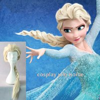 Wholesale Cosplay Lolita Wigs White - MCOSER Popular Cartoon Girl Hair Wigs Children Cosplay Wigs Elsa princess White Fluffy Long Lolita Hair