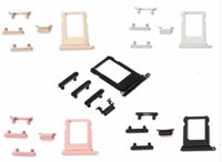 Wholesale iphone plus sim free resale online - Side Button Set For iPhone G Plus Power Volume Mute Buttons Sim Card Slot Replacement Parts Free DHL