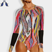 Wholesale Sexy Swimsuits Size Xs - Wholesale- swimsuit women one piece swimsuit long sleeve Plus Size swimwear women sexy Swimwear one piece bathing suits swimming suit