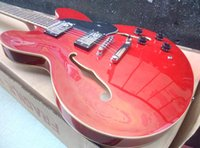 Wholesale Guitar Red Special - In stock-Special ALLNEWes-335 semi-hollow double F hole red jazz electric guitar