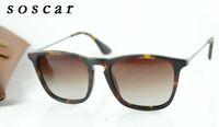 Wholesale Sunglasses Cheap Price Blue - Gradient Square Sunglasses Brand Designer Sunglass Men Women Fashion Sunglasses 54mm Cheap Price High Quality with Free Leather Box