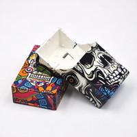 Wholesale Plastic Cigarette Box Case - KKDUCK New American Skull Style Portable Cigarette Case Plastic Cigarette Box Storage Case 20PCS Colorful Popular Sales