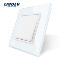 Wholesale Crystal Home Button - Manufacturer Livolo Luxury white crystal glass panel, Push button switch  smart home, VL-C7K1-11 Energy conservation and environmental