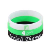 Wholesale Bracelet Charms Thomas - Isaiah Thomas Signature Bracelet No.4 Sport Bracelets Mens Silicone Bracelet Elastic Gym Fitness Energy Wristbands For Men