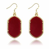 Wholesale Solid Gold Jewelry Wholesalers - 2017 Hot Popular Kendra Scott Druzy Earring Various Solid 8 Colors Gold Plated Geometry Stone Earrings Best for Lady Fashion Jewelry