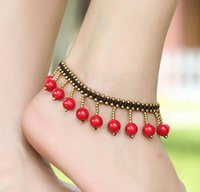 Wholesale Turquoise Star Bracelet - Hot sales anklets women Anklet turquoise starfish Copper beads elephant souvenir Ankle Bracelet Foot Jewelry Fast Free Shipping 9