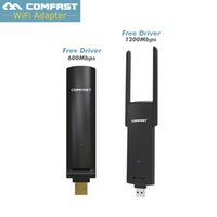 Atacado- Novo Adaptador Wifi USB 600mbps / 1200mbps 802.11ac / b / g / n 2.4Ghz + 5.8Ghz Dual Band Wi-fi Dongle computador AC Network Card Antena USB