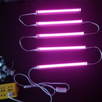 Wholesale Growth Lamps Plants - LED Growth Lamp for Plant T5 LED Tube Integration 1ft 2ft 3ft 4ft Full Spectrum Pink Color for hydroponic tents In Stock