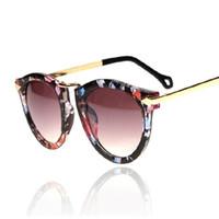 Wholesale Vintage Arrows - Wholesale-Flower Cat Eye Womens Sunglasses Women Luxury Brand Designer Retro Vintage Sun Glasses For Womaen Female Cateye Arrow Shades