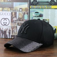 Wholesale Sequin Snapback - 2017summer new sequins hat NY baseball cap men and women couple cap snapback brand hat man caps baseball hats1801#