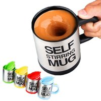 Wholesale Stirring Electic Coffee Mug - Automatic Coffee Mixing Cup Mug Drinkware Stainless Steel Coffee Cup Mug Self Stirring Electic Cooking Tools