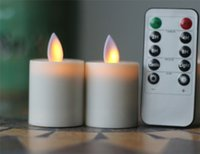 Wholesale Paraffin Tea Light Candles - Remote Ready Moving Wick Flame Classic 1.5*2.6' Flameless LED Tea Lights Candles