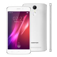 gps grátis para smartphone venda por atacado-FREE DHL! Original Homtom HT27 5.5 polegada MTK6580 64bit Quad Core Android 6.0 1 GB de RAM 8 GB ROM 1280 * 720 8MP 3000 mAh Toque ID Smartphone