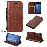 Wholesale Huawei Honor Wallet - For Huawei Honor 8 Lite Phone Case Huawei P8 Lite (2017)  Nova Lite Cover Flip Wallet Cases Stand Covers Premium PU Leather Shell
