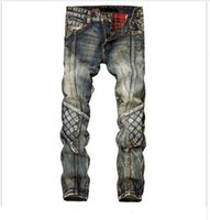 Wholesale Personalized Jeans - Wholesale- men jeans straight cat to be personalized vintage color jeans men tide brand trousers Tide male cowboy pants do old pants