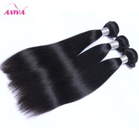 3Pcs Lot Russian Virgin Hair Straight Russo Seda Straight Cabelo Humano Weave Bundles Cheap Rogue Remy Extenções de cabelo Natural Black 1B