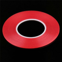 Wholesale red tape double sided resale online - 50pcs Transparent Clear Adhesive Transparent Double side Adhesive Tape Heat Resistant Universal cellphone repair sticker red
