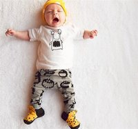 Wholesale Cute Baby Boy Pajamas - ins Boys Girls Baby Clothing Sets Summer tshirts Pants 2Pcs Set Cute Cartoon Toddler Pajamas Infant Clothes Boutique Clothes Suits FZSK805