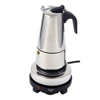 Wholesale Moka Pot Coffee Maker - Stainless Steel Electric Moka Pot Espresso Maker Latte Percolator Italian Coffee Maker Pot For Use On Gas Electri
