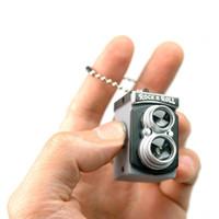 camera lens à vendre achat en gros de-Vente en gros ensemble mignon Mini Double Double Lentille Reflex TLR Style de caméra LED Flash Flash Torche Obturateur Son Porte-clés