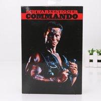 "Wholesale Arnold Toy - 7"" 18cm NECA Commando 30th John Matrix Arnold Schwarzenegger PVC Action Figure Collectible Model Toy Boxed"