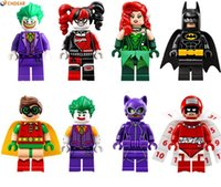 Wholesale Robin Figure - 480pcs lot PG8032 Super Heroes figures Joker Batman Catwoman Robin Poison Ivy Calendar people Harley Quinn Bricks Toys