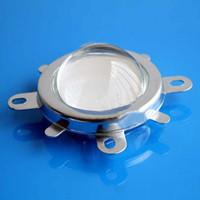 ledli lens reflektörleri toptan satış-Toptan-Sıcak Satış 44mm DIY Lens + Reflektör Kolimatör + 20 W-100 W Led Lamba Için Sabit Braket