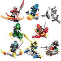 Wholesale plastic toy skeleton - new mini figures building blocks Phantom Ninja Jay Kai Cole Zane Weapons Skeleton Mini Dolls baby Toys