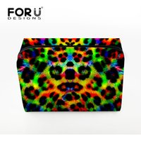 Forudesigns 2017 New Style Cosmetic Bag Leopard Print Mulheres Maquiagem Bag Travel Portable Handbag Storage Make -Up Tools Bags