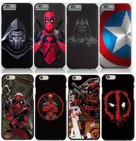Wholesale 3D Design Deadpooll Start war Case For iphone s plus TPU Dead Mouse Case Phone Cover For Samsung s8